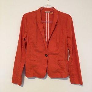 Halogen Orange Linen-blend blazer